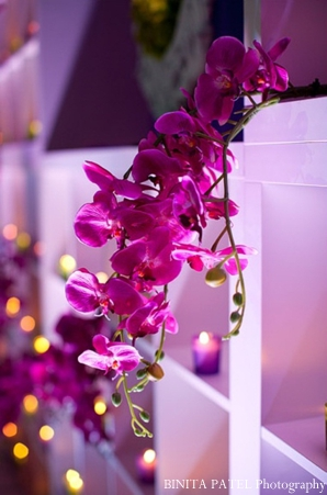 Indian wedding ideas with orchid flowers and candlelight.
