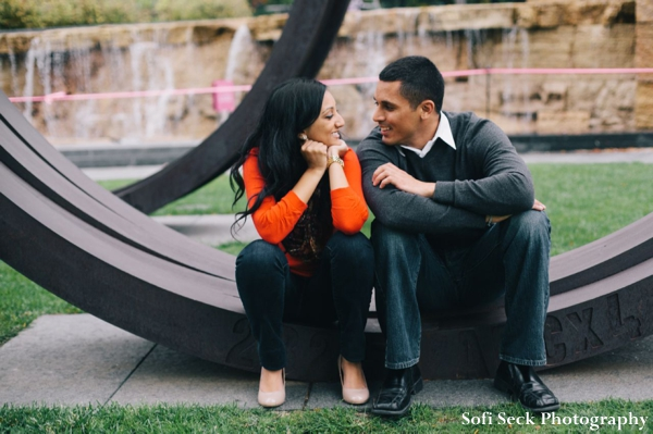 Engagement shoot ideas with indian bride and gfroom