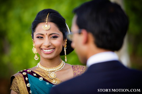 Hair and makeup ideas for indian brides.