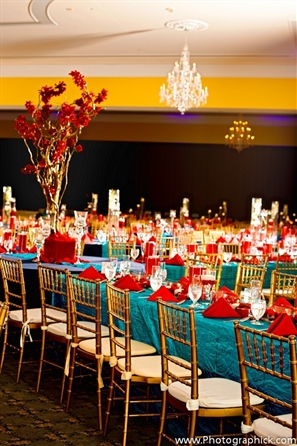 Indian wedding decorations ideas indian wedding reception indian wedding reception decor ideas teal red junglespirit Image collections