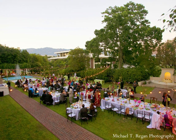 pakistani wedding reception at a garden.