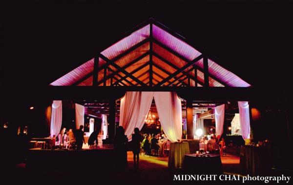 Indian Wedding Reception In A Partially Outdoor Venue