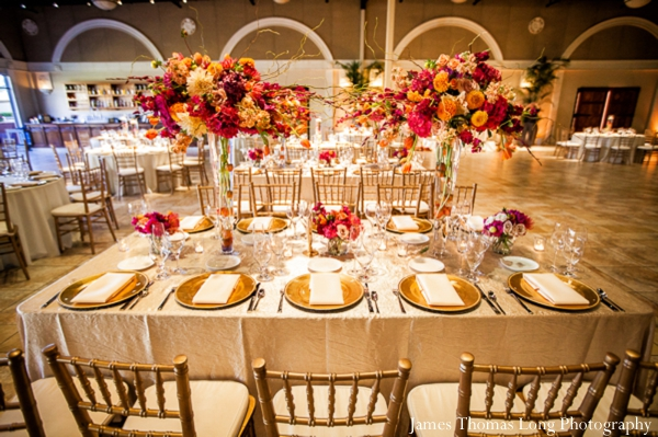 indian wedding reception table setting decor ideas.