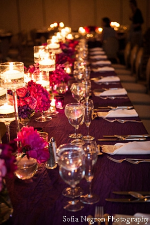 Indian wedding ideas for decor at fusion wedding reception.