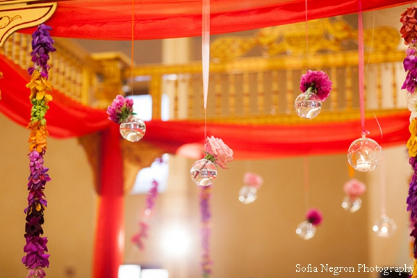 Floral decor ideas at indian wedding ceremony.