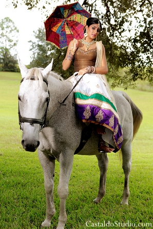 Indian bride with a vintage themed indian wedding shoot