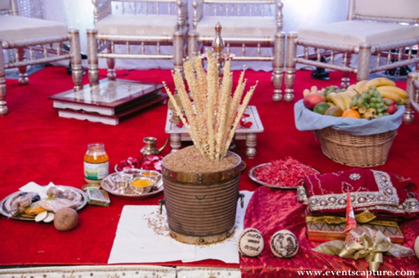 Indian wedding customs and traditional rituals at the altar.
