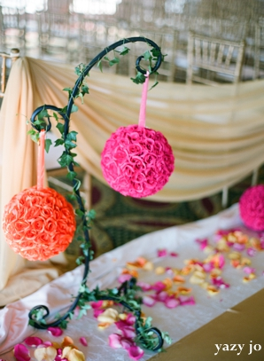 indian wedding decor ideas with flower balls