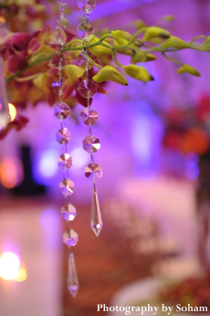 Indian wedding reception decor for centerpieces