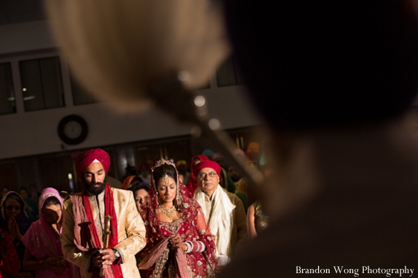 Indian wedding ceremony in pink, white and gold
