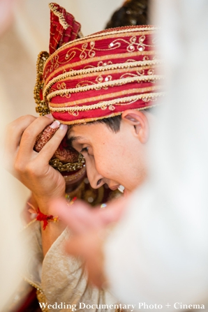 Indian groom at indian wedding ceremony