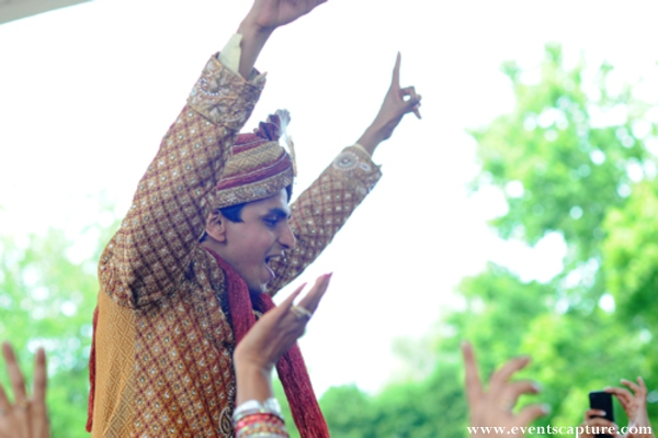 indian groom at his baraat before the indian wedding ceremony