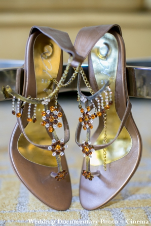 Bridal shoes for an Indian bride