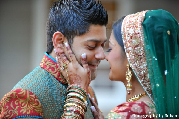 Indian wedding photography of first look photos