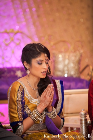 Indian bridal hair and makeup ideas for engagement ceremony