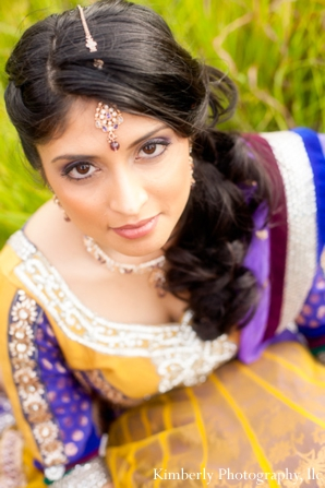 Indian bridal hair and makeup ideas for engagement shoot