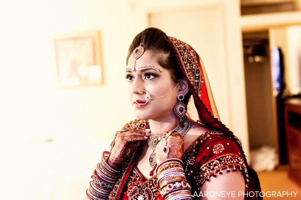 indian wedding bride in bridal wedding lengha