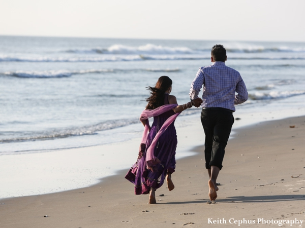 indian-wedding-bride-groom-running-beach-engagement