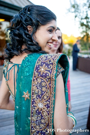 Open back choli wedding lengha for indian bride