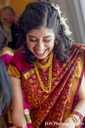 South Indian bride in traditional wedding sari