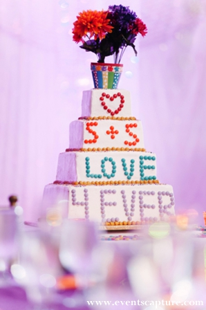 whimsical indian wedding cake