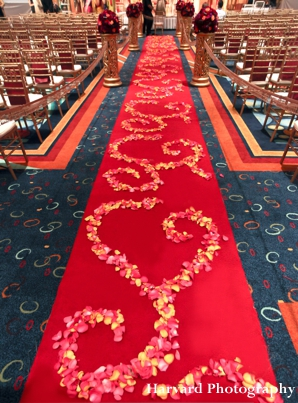 indian wedding floral decor on carpet