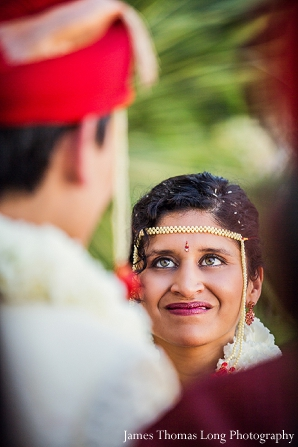 South Indian bride at fusion indian wedding