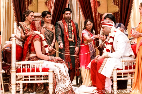 Three Jaw Dropping Indoor Banff Wedding Ceremonies: Gorgeous Indian Wedding Ceremony With Modern Mandap By