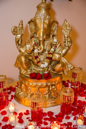 Indian wedding decor of ganesh statue