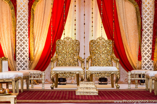 Indian Wedding Ceremony In Red And Gold by Photographick Studios ...