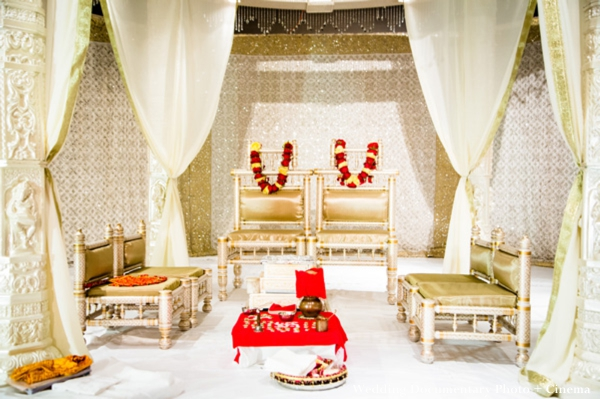 indian wedding mandap and altar for traditional ceremony