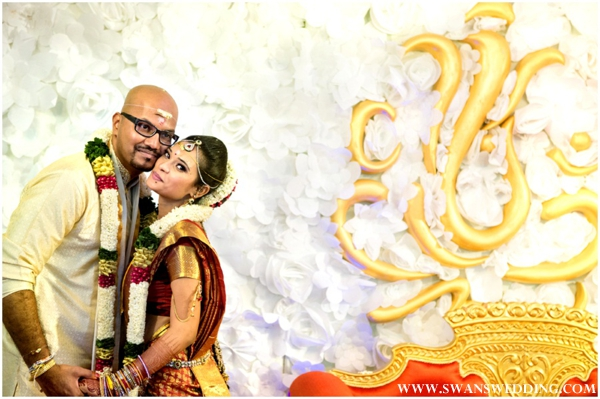 Indian wedding photography with South Indian bride and groom