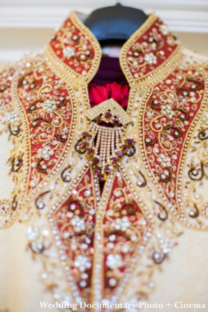 Indian wedding photography of groom's clothing