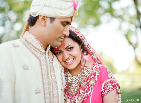 indian bride and groom portraits by indian wedding photographer