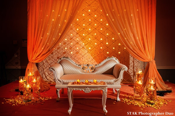 Indian wedding reception decor for Indian bride and groom