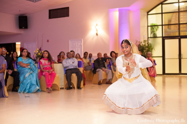 Indian wedding engagement party with live dancers