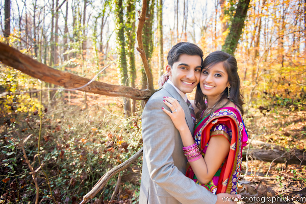 indian bride and groom engagement photos