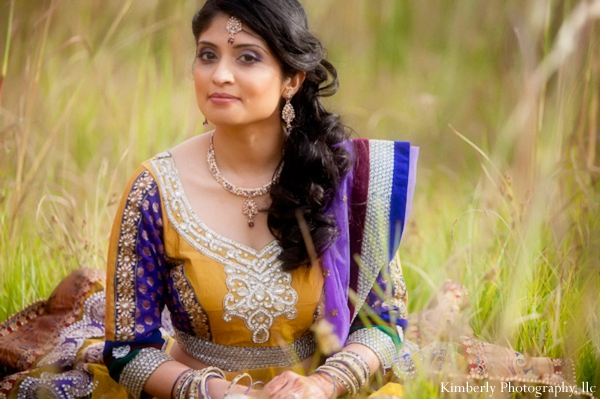 Indian bride in engagement photo shoot