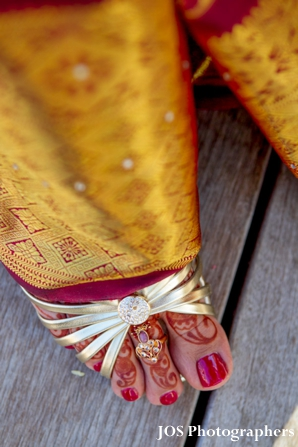 Indian bridal shoes for south indian bride