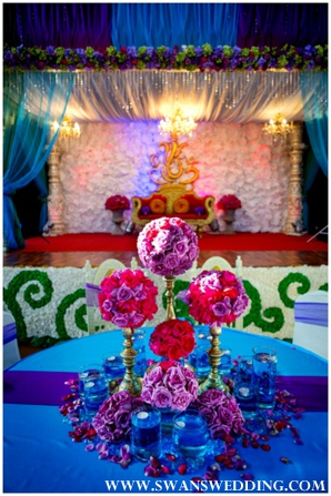 Indian wedding floral and decor ideas for indian wedding reception.