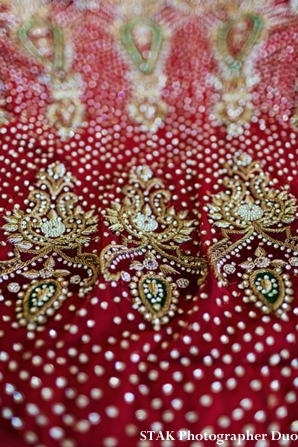 Indian wedding lengha closeup