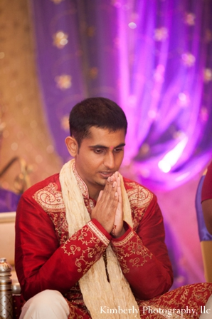 Indian groom at indian wedding engagement party