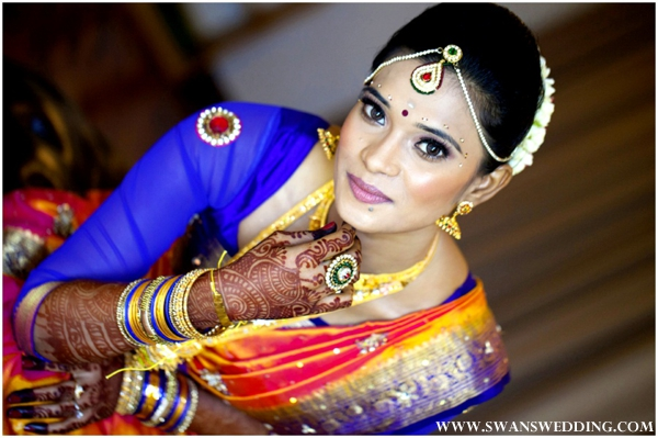 Mehndi Bride Makeup : Indian bridal makeup ideas for a south wedding by swans