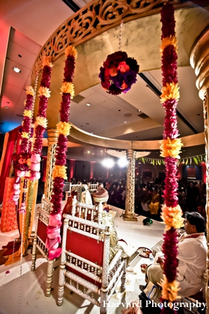 Indian bride and groom at their indian wedding ceremony.