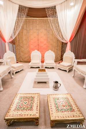Minimalist decor for indian wedding ceremony