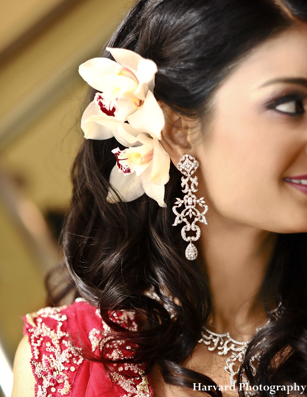 Indian bridal hair and makeup ideas.