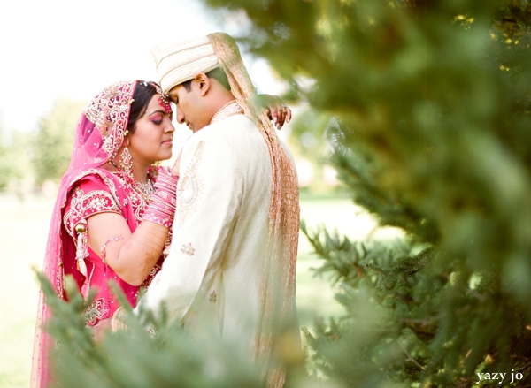 indian bride and groom outdoor indian wedding photography