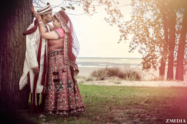 indian bride and groom portrait