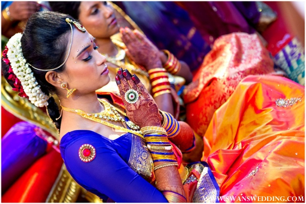 Indian bridal hair and makeup ideas for prewedding ceremonies