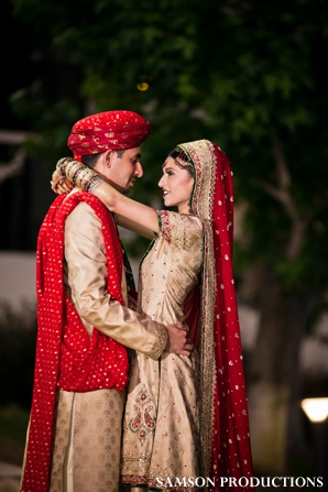 Pakistani wedding portraits of pakistani bride and groom